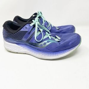 Saucony Ride ISO Purple Running Shoes Sneakers